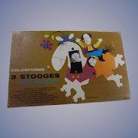 1960s Three Stooges Colorform Set, Complete