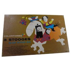 1960s Three Stooges Colorform Set, Complete