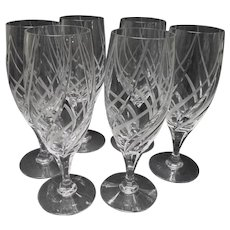 "Six Mikasa Windless Barware 8 1/4"" Goblets"