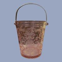 Versailles Fostoria Pink Flamingo Ice Bucket