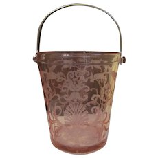 Trojan Fostoria Pink Flamingo Ice Bucket