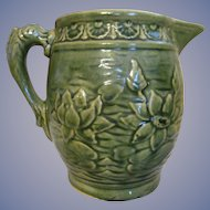McCoy Pottery Water Lily, Fish Handle Jug Pitcher