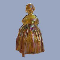 Wheaton Marigold Carnival Glass Girl Figurine