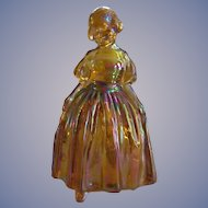 Wheaton Marigold Carnival Glass Girl Figurine