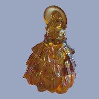 Wheaton Marigold Carnival Glass Victorian Style Lady Figurine