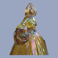 Wheaton Marigold Carnival Glass Peasant Girl Figurine