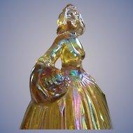 Wheaton Marigold Carnival Glass Peasant Girl Figurine