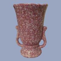 """Shawnee 8"""" Handled Vase, Mauve White"""