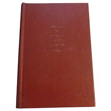 1882 History of Mercer Henderson County, 1971 Reprint, People,County, Township History