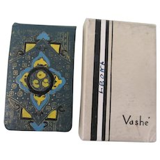 Art Deco Vashe Rouge Powder Compact with Box