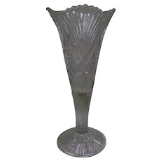 "EAPG McKee Champion aka Fan with Crossbars 11.75"" Vase"