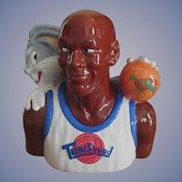 1996 Space Jam Cookie Jar with Box, Michael Jordan & Bugs