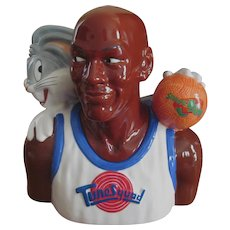 1996 Space Jam Cookie Jar with Box, Michael Jordan & Bugs