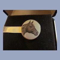 Barlow Horse Tie Clip with Box