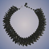 West Germany Black Layered Necklace