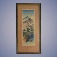Keisai Eisen Woodblock, A Landscape, Signed, Stamped