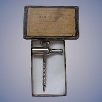 Williamson's New Century Champagne Tap, Cork Screw #1900 with Box