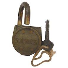Brass Slaymaker Lock with Key