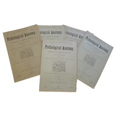 1883-1884 Pathological Anatomy, Pathology and Physical Diagnosis, Diseases of the Human Body by Jeancon, Complete 25 Parts, Publisher Progress Publishing