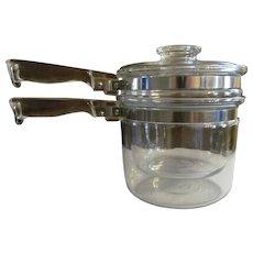 Pyrex Flame Ware #6283  1 1/2qt Double Boiler  EX