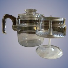 Pyrex Flame Ware 4 cup Stove Top Coffee Pot EX
