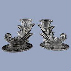 Fostoria Baroque Navarre Flame Candle Holders