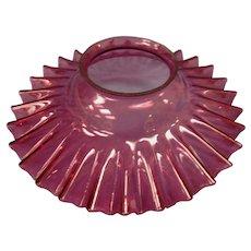 """Victorian Cranberry Petticoat 9 1/2"""" Kerosene Lamp Shade"""