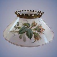 Milk Glass, Thistle Slanted Shade for Hanging Kerosene Oil Lamp Fixture