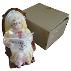 "Lefton Grandma 7 1/2""  Bank with Box"