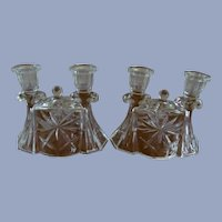 EAPC Early American Prescut Candle Holders by Hocking