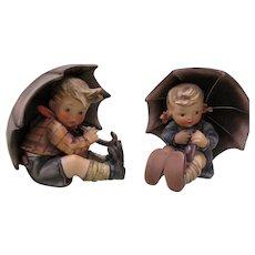 "Hummel Goebel Umbrella 5"" Boy and Girl 152/0 A & B"
