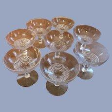 8 Duncan Miller Tear Drop Champagne Sherbet Goblets