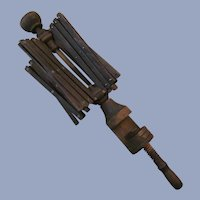 Antique Wood Umbrella Table Yarn Winder, EX