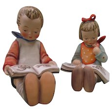"Hummel Goebel Book Worm 5 1/2""  Boy and Dated 1952 Girl 157/0 A & B"