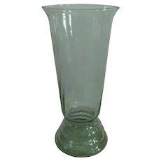 "Dunbar 12"" Aqua Green Swirl Rings Vase"