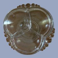 "Duncan Miller  7 1/2""  Tear Drop 3pt Covered Candy Box Dish"