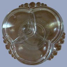 """Duncan Miller  7 1/2""""  Tear Drop 3pt Covered Candy Box Dish"""