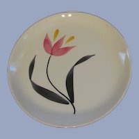 6  Pink Yellow Tulip Stetson China Bread Butter Plates