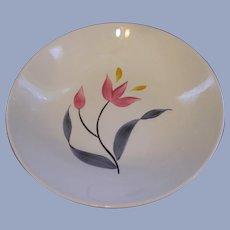 "Stetson China Pink Yellow Tulip 9"" Serving Bowl"