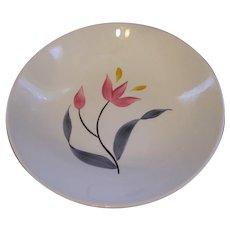 "Stetson China Pink Yellow Tulip 9"" Serving Bowl"