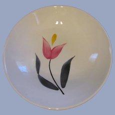8 Stetson China Pink Yellow Tulip Dessert Bowls