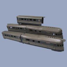 Prewar 1935 Flyer Comet Streamliner Toy Passenger Train Set with Tracks,Transformers,Etc