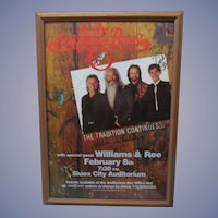 1996 Oak Ridge Boys Signed Tour Concert Music Poster