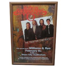 1996 Oak Ridge Boys Signed Tour Concert Music Poster