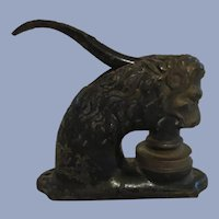 Cast Iron Lion Document Stamp