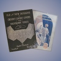 Early 1900s Booklets for Crochet Corset Covers, Nightgown Yokes and Underthings
