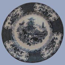 "Allerton England Chinese Transferware 9"" Plate 1905-12"