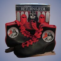 1983 Star Wars Return of the Jedi, Darth Vader Ice Skates with Box