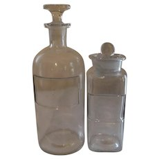 Wheaton Chemical Pharmacy Druggist Bottles, Marked Dated
