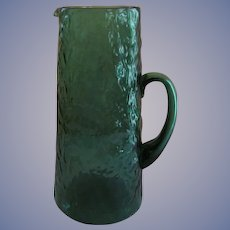 "Morgantown Seneca 11"" Crinkle Wrinkle Green Pitcher"
